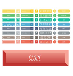 colorful website web buttons design vector image