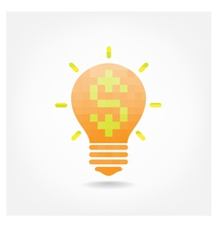 Creative light bulb symbol vector image