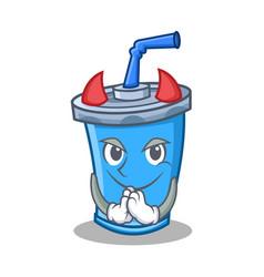 Devil soda drink character cartoon vector