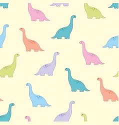 Dinosaur baby seamless pattern vector