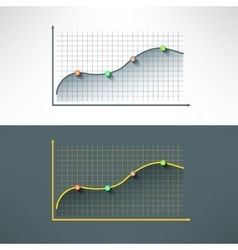 Economic finance graphics chart made in vector