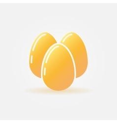 Eggs icon vector image vector image