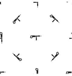 Electric drill perforator pattern seamless black vector