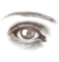 Halftone brown eye vector