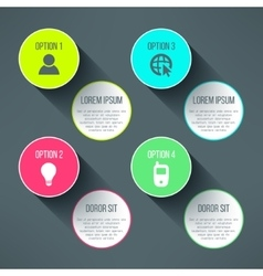 infographic boards template in modern flat vector image vector image