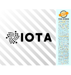 Iota ticker flat icon with bonus vector