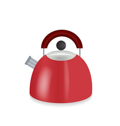 kitchen appliances red electric kettle vector image