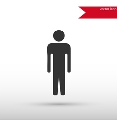Man black icon and jpg Flat style object vector image