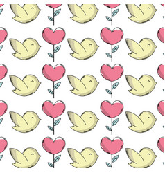 natural dove and heart plant with leaves vector image