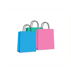objects shop bags vector image