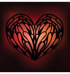 Ornamental Heart Love vector image vector image