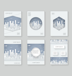 paper silhouette urban landscape city real estate vector image