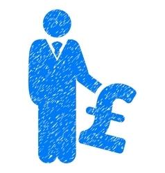 Pound investor grainy texture icon vector