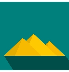 Pyramids of Egypt icon flat style vector image vector image