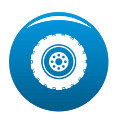Repairing tire icon blue vector