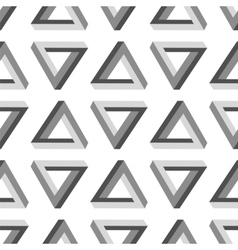 Seamless Impossible Triangle Pattern vector image vector image
