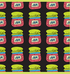 Seamless pattern with jam marmalade vector
