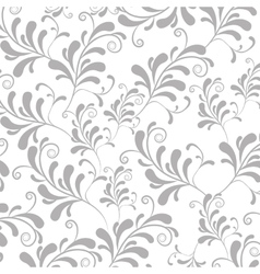 Silver leaves background vector