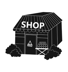 Supermarket icon in black style isolated on white vector