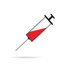Syringe and needle vector