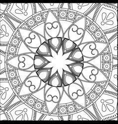 Vintage mandala bohemian decoration scheme vector