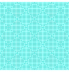 White Line Squares Seamless Pattern on blue vector image vector image
