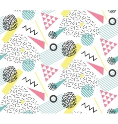Seamles pattern in memphis style with geometric vector image