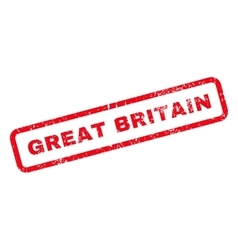 Great britain text rubber stamp vector