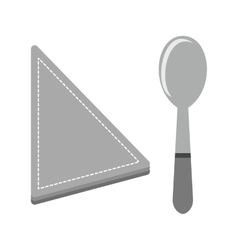 Spoon and napkin vector