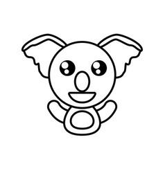 koala animal toy outline vector image