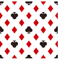 Card suit pattern diamonds and clubs seamless vector