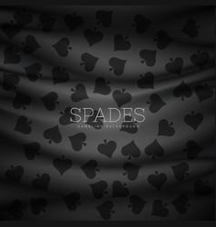 Dark spades pattern background vector