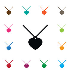 isolated necklace icon choker element can vector image