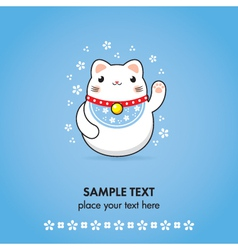 maneki neko greeting card vector image