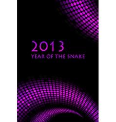 2013 snake purple frame vector