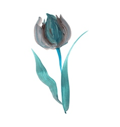 Oil painted tulip vector