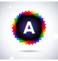 Spectrum logo icon letter a vector