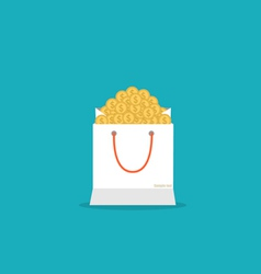 Money in the bag vector
