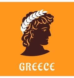 Ancient greek athlete in winner olive wreath vector