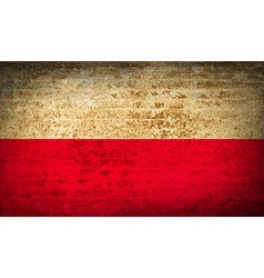 Flags poland with dirty paper texture vector