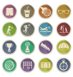 Volleyball simply icons vector