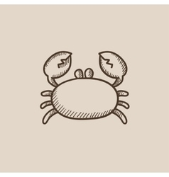 Crab sketch icon vector