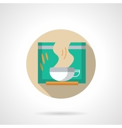Slimming tea round flat color icon vector