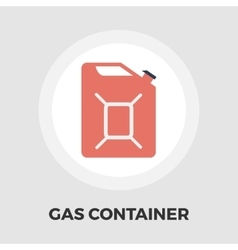 Gas containers flat icon vector