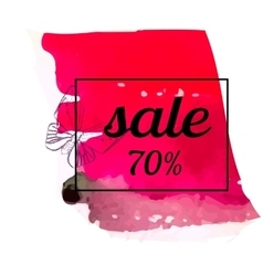 Summer sale in red background vector