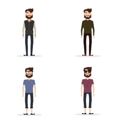 Abstract cute men vector