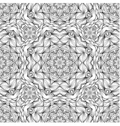 Black and white pattern with ornament in mandala vector