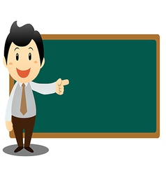 Business man with blackboard vector image