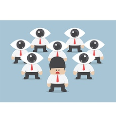 Businessman has been observed by eyeball head vector