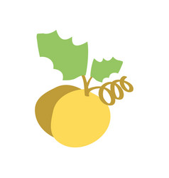 Christmas grape icon yellow vector